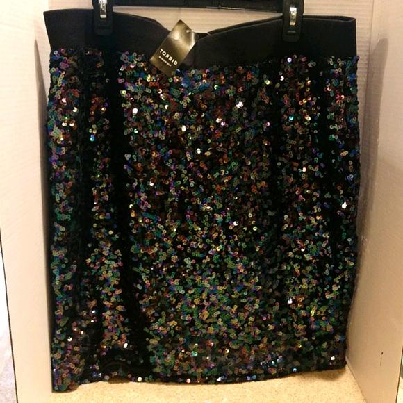 New Torrid Sequined Skirt size 3